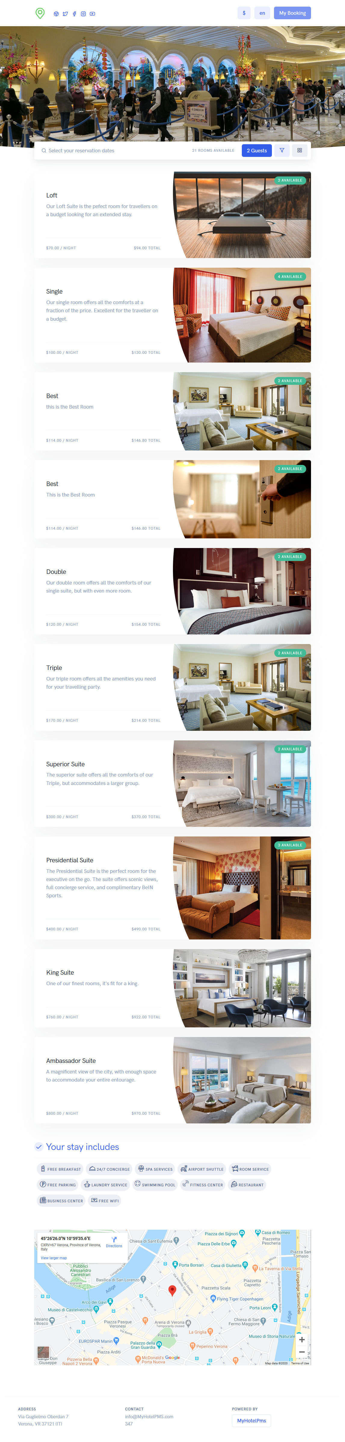 Hotel Website Design and Hosting by MyHotelPMS