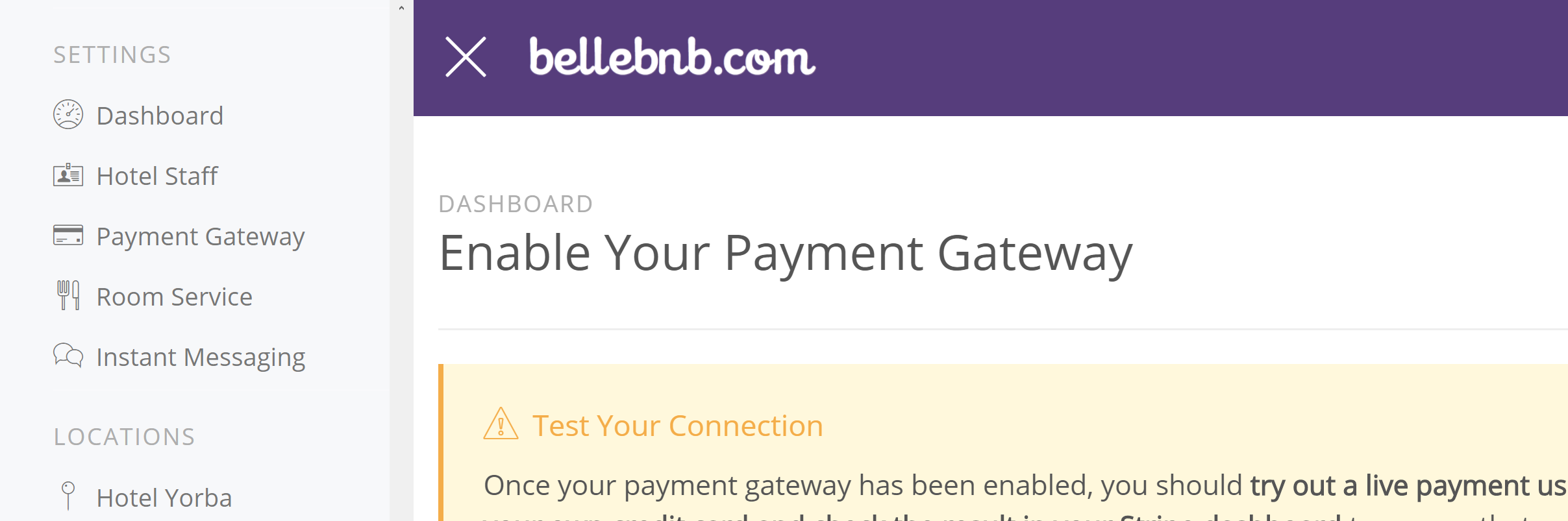 Hotel Payment Gateways Part I: Bellebnb Concepts You can connect your Payment Gateway to process live credit card payments directly from your Front Desk manager. Before you do this, you should be familiar with a few definitions and concepts found in this blog post. Hotel Management Software in the Cloud
