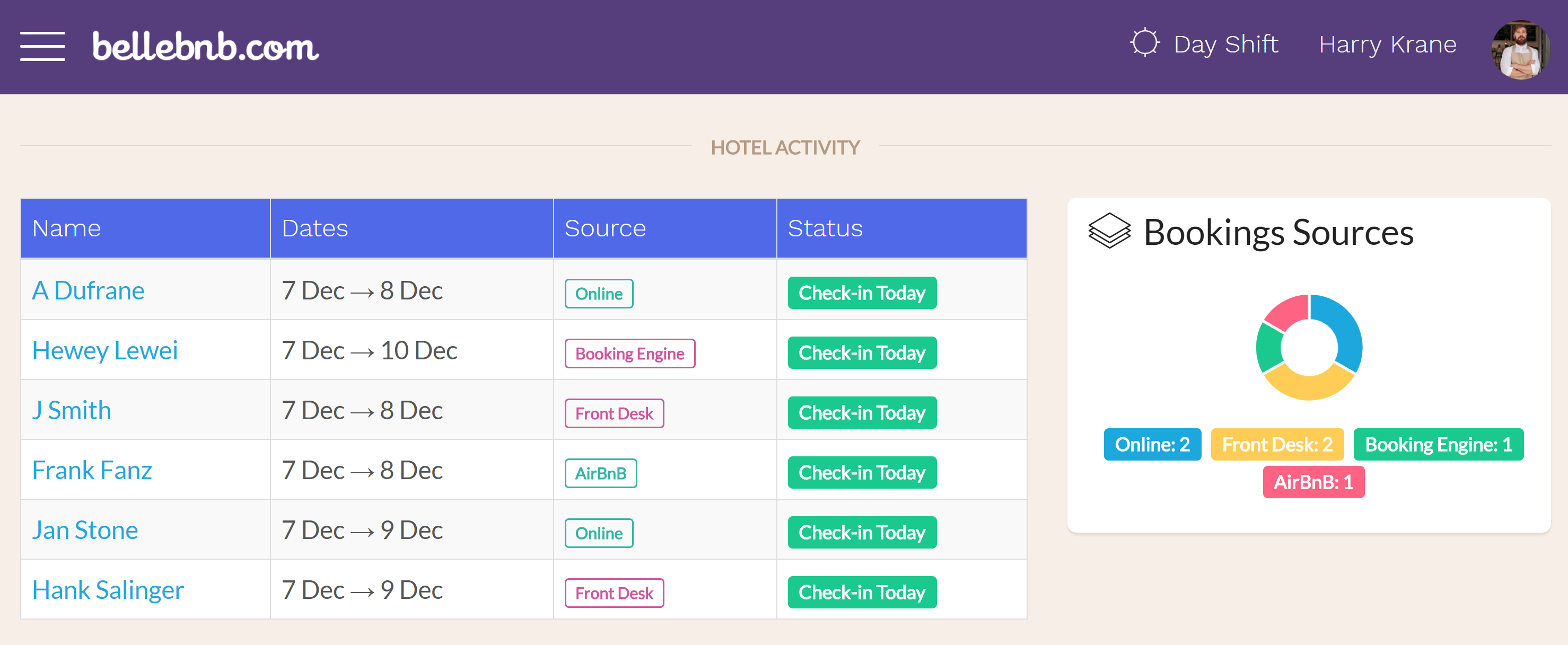 Hotel Price Match The Front Desk manager provides helpful tips and notifications along the right side of a reservation's details view. One that's very important is the 'Price Match' notification, which concerns bookings that were received from exterior channels, like Booking.com and Airbnb.