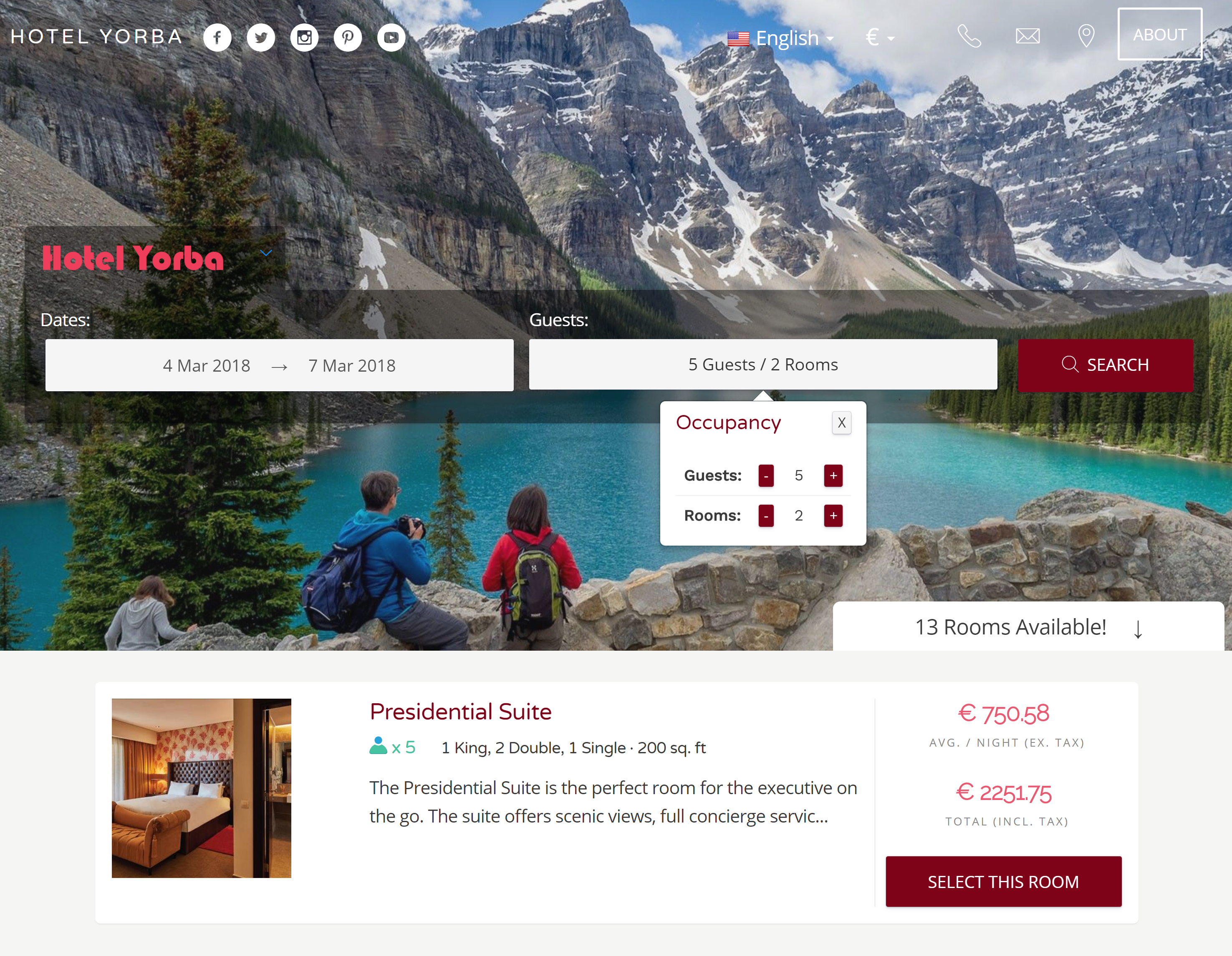 Hotel PMS Booking Engine Per-Guest Pricing features for the Booking Engine Hotel PMS Software