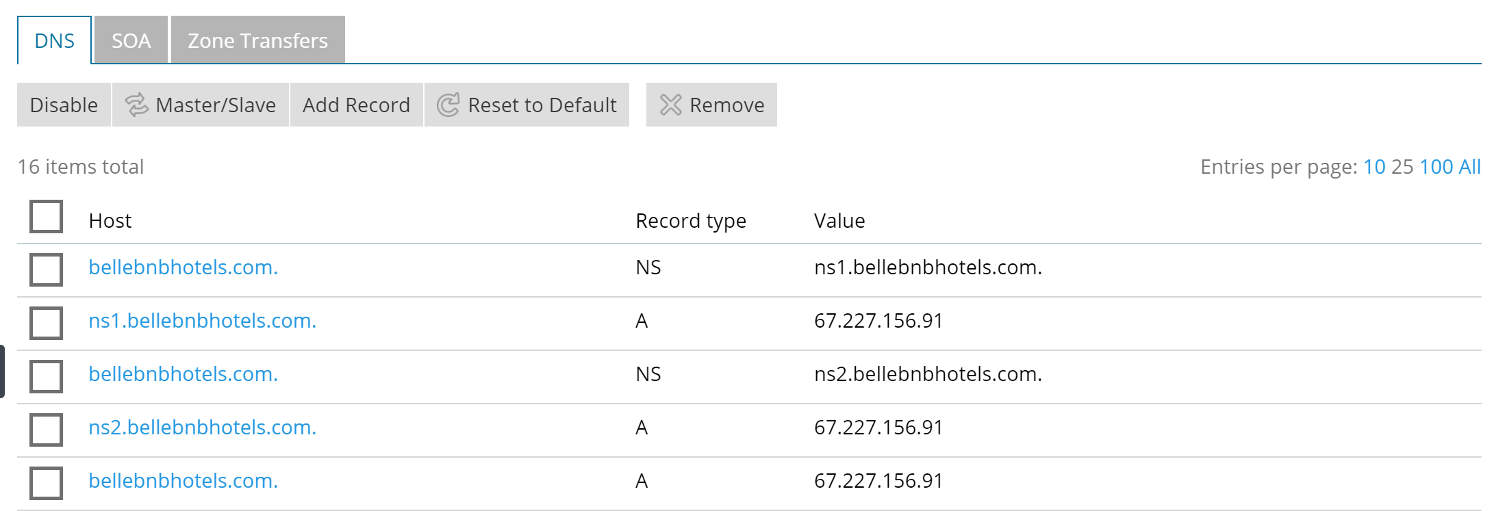 Hotel website DNS Setting for PMS Software