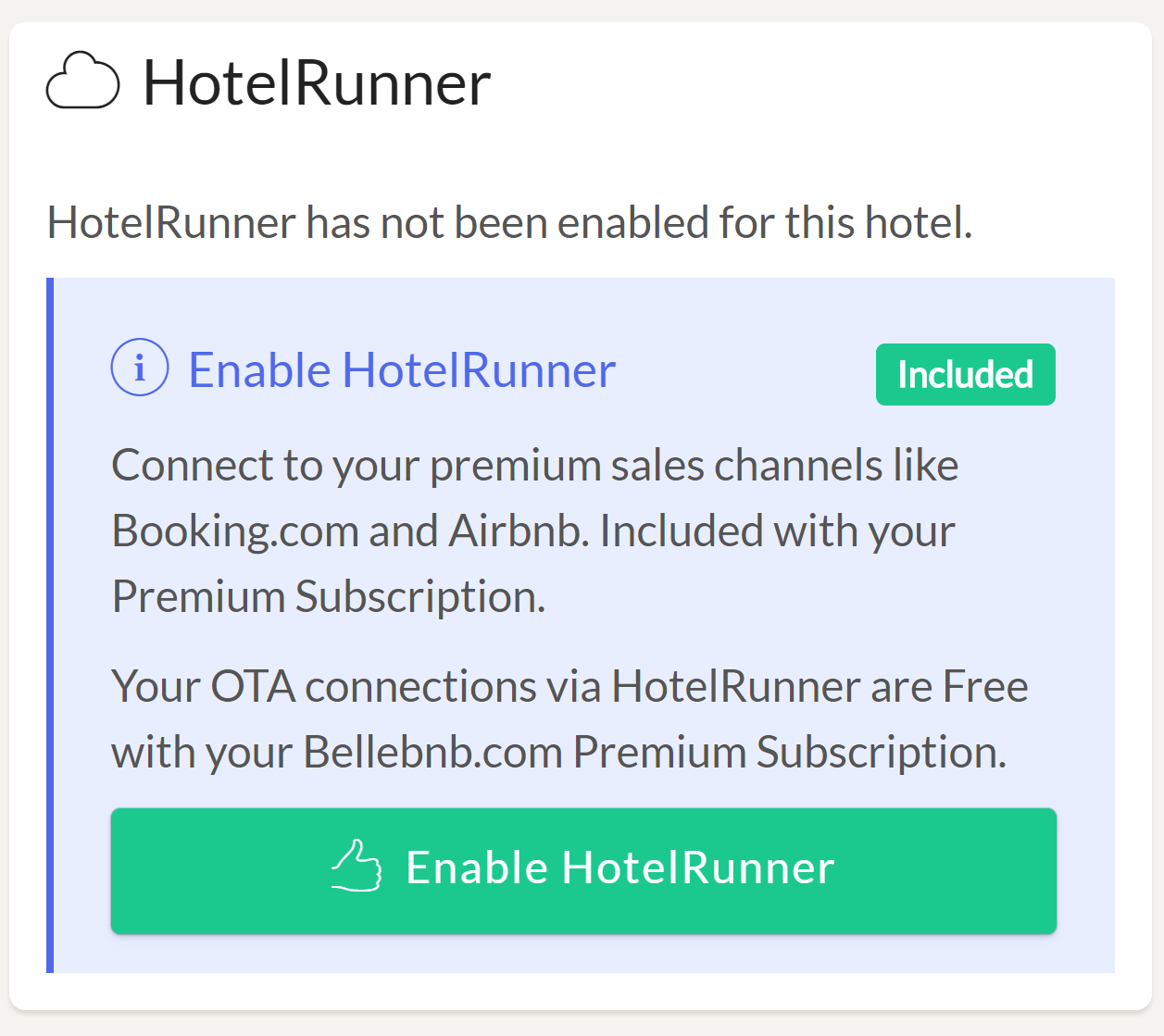 Enable MyHotelCRS