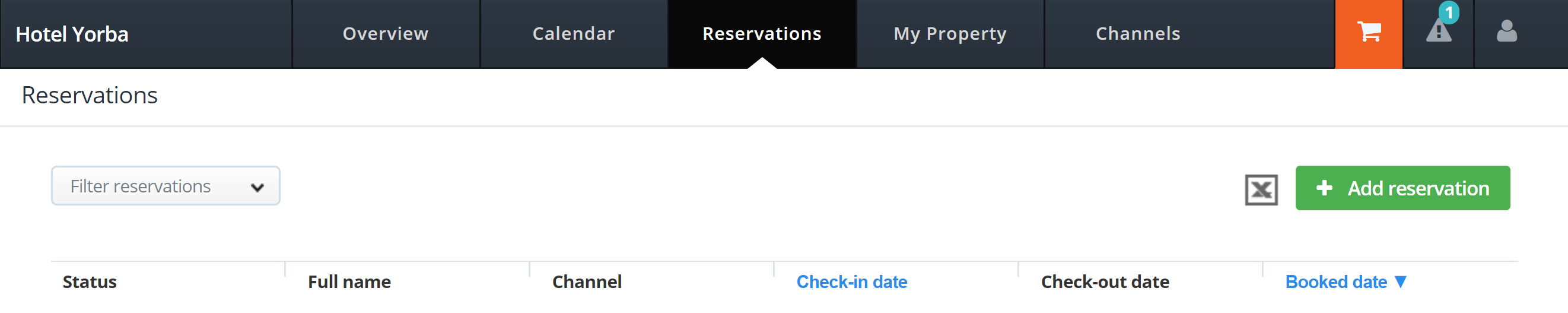 How to test your connection to MyHotelCRS.com calendar