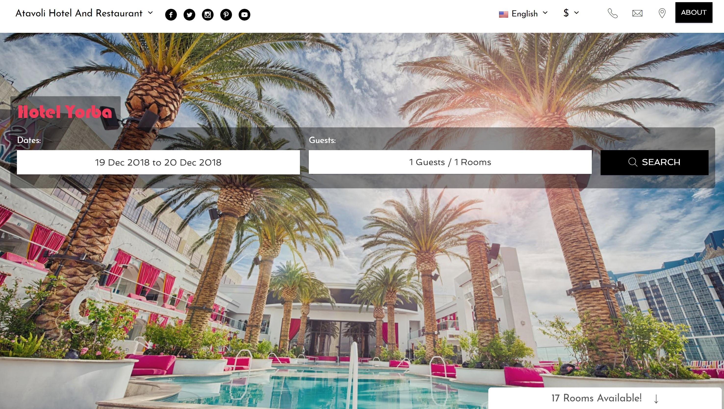 embeddable Hotel Booking widget, or 'booking button'.