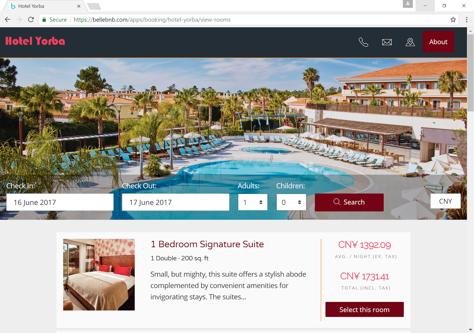 Hotel Direct Booking Engine