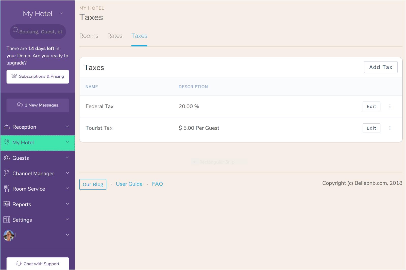 Hotel Tourist Tax | Hotel City Tax | Hotel PMS software | Hotel City Tax | Hotel Regional Taxes Tourist Tax