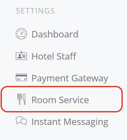 Hotel Room Service Menu in the Cloud