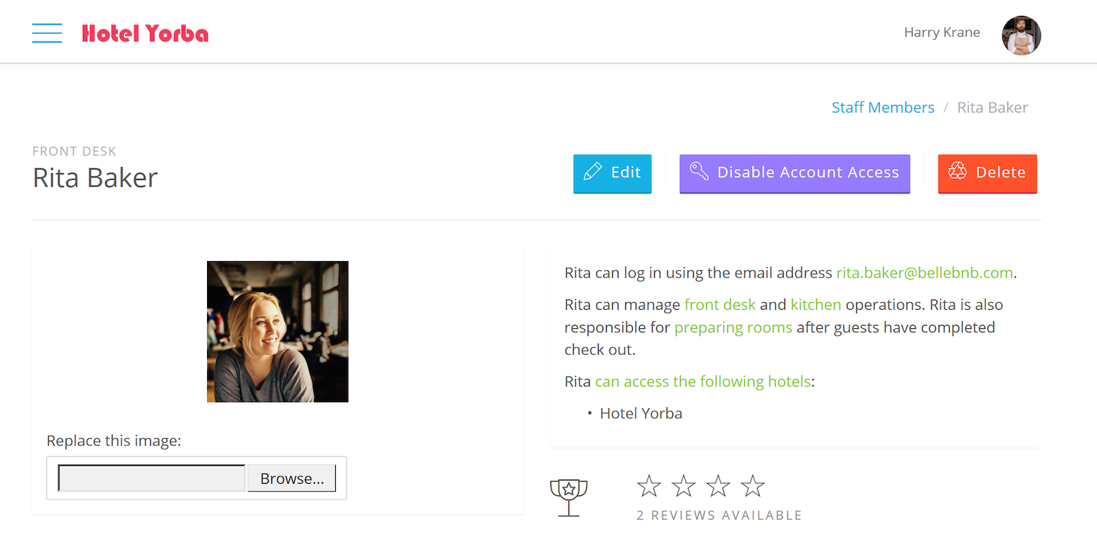 Hotel Staff Review Engine