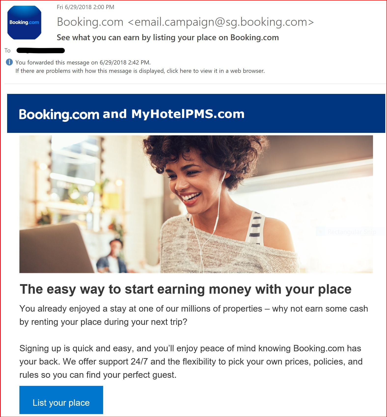 See what you can earn by listing your place on Booking.com MyHotelPMS.com by Bellebnb Hotel Direct Booking Management Software, You already enjoyed a stay at one of our millions of properties, why not earn some cash by renting your place during your next trip? Signing up is quick and easy, and you'll enjoy peace of mind knowing Booking.com and MyHotelPMS.com has your back. We offer support 24/7 and the flexibility to pick your own prices, policies, and rules so you can find your perfect guest Bellebnb Hotel Property Management System - A Better Way to Manage Your Hotel · Hostel · B&B · Vacation Rental.!