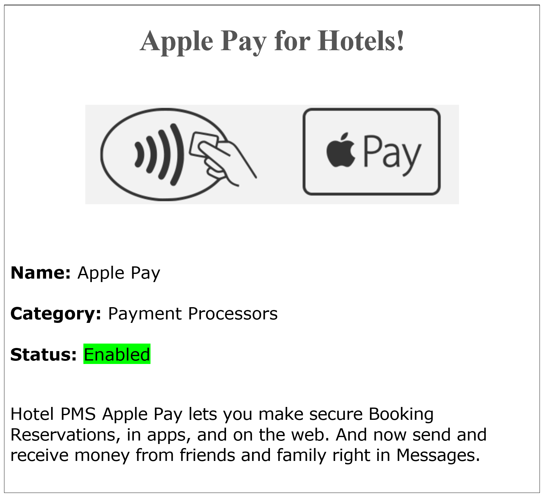 Apple Pay| Apple Watch | Apple Pay Hotel Credit Card Processing - Accept Hotel booking Reservations with Apple Pay, connect a Hotel With Apple Pay