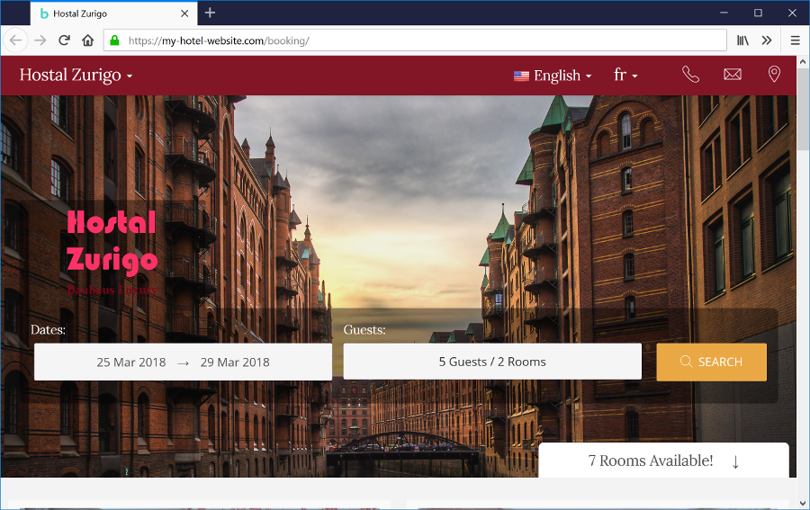 Dit eget Hotel website